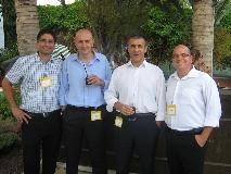מימין לשמאל: אורן ישרים, מרקו ריבולי, לורנזו לומסי ורון כהן - סימנטק