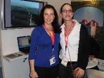 """בתמונה מימין לשמאל: לימור פרטל-ללוש, מנכ""""לית התאחדות מלונות טבריה ודליה בודינגר מהרשות לפיתוח הגליל"""