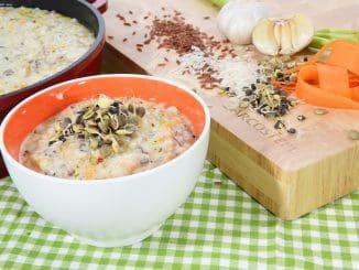 מרק קרם עוף עם אורז בר