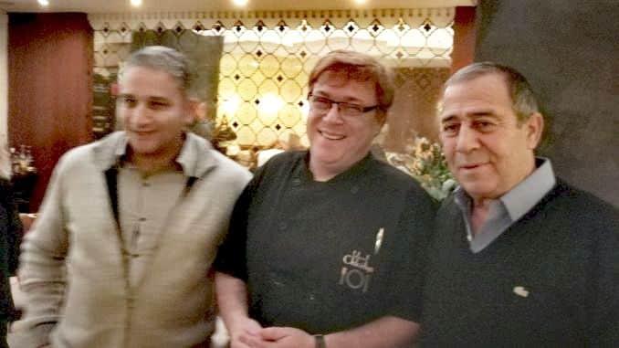 ג'יל אסולין (משמאל), שף ויקטור גלוגר - קלואליס, שמואל בוקסר