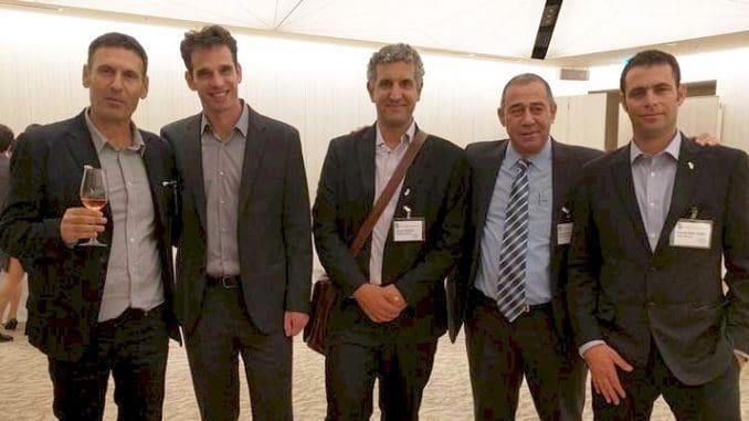 כובשים את יפן (מימין לשמאל): דוד בר-אילן, שמואל בוקסר, יפתח פרץ, ערן פיק, גולן פלם