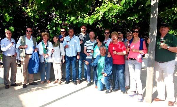 ביקור יקבים תאומים ישראל-גרמניה ברמת הגולן 2015