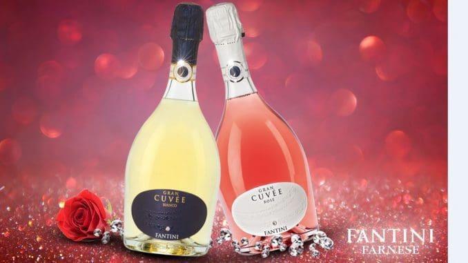 שני יינות מבעבעים (ספומנטה), שנארזו בבקבוק בו משובצת אבן יקרה של מותג סוורובסקי
