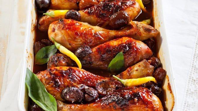 הערמונים בשילוב הסילאן הטבעי מוסיפים טעם מתקתק ומעודן לשוקי העוף