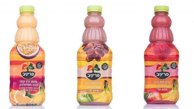 שייקים מבוססי פירות עם פחות סוכר ומיץ ללא סוכר