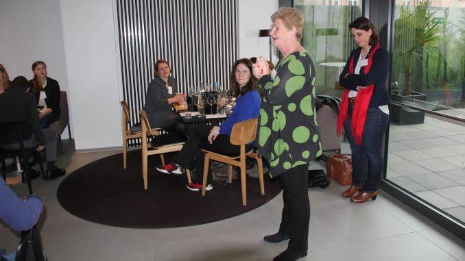רנה זלצמן בכיתת אומן על יינות ישראל מטעם איגוד נשות היין בגרמניה ויניסימה (Vinissima)