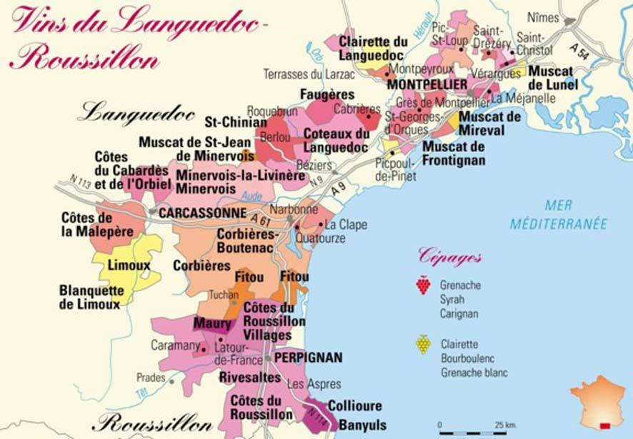 לנגדוק-רוסיון הוא אזור ייצור יין הגדול בצרפת, ומהגדולים בעולם מבחינת היקף הייצור