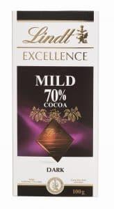 טעם מעודן יחסית לשוקולד מריר