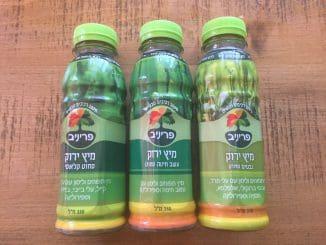 סדרה של מיצים ירוקים, עשויה 100% רכיבים טבעיים, ללא תוספת סוכר, ללא חומרים משמרים וללא צבעי מאכל