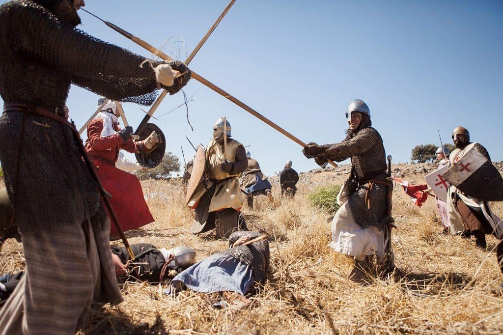 """הקרב הגורלי התרחש ב-4 ביולי 1187 בין הצלבנים הנוצרים של """"ממלכת ירושלים הצלבנית"""" והכוחות המוסלמים של השושלת האיובית בראשות הסולטן צאלח א-דין"""