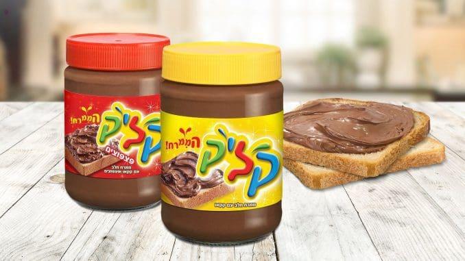 שני ממרחים שוקולדיים תחת מותג חטיפי השוקולד