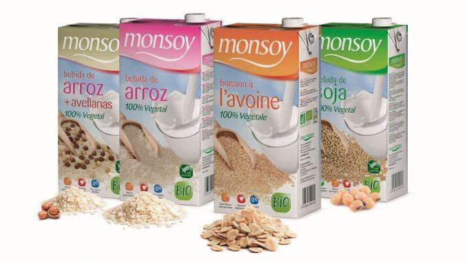 מוצרים אורגניים המבוססים על סויה, אורז, שיבולת שועל, ואורז עם אגוזי לוז