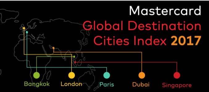 המדד כולל רשימה של 132 יעדי הערים המובילים בעולם, על סמך נפח המבקרים והוצאותיהם בשנת 2016