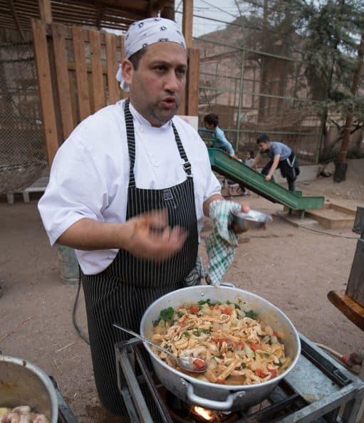 """שף אסף שינער: הקרקס הראשון התקיים לפני כארבע שנים באגם ניצנים בשת""""פ עם אנשי בר היין ברוט. צילום אריה פרד"""