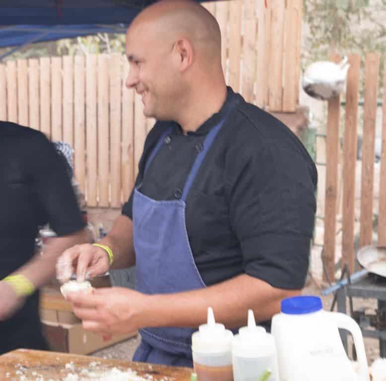 אוהד קוויתי מקרנבל של בשר - היה סו-שף של יורם ניצן במול ים והשף במסעדת סרגוס. צילום אריה פרד