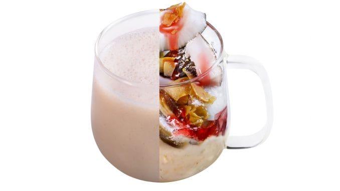 hot malabi - תמר, קוקוס קלוי, מי ורדים, שיבולת שועל, חלב שקדים. צילום רונן מנגן
