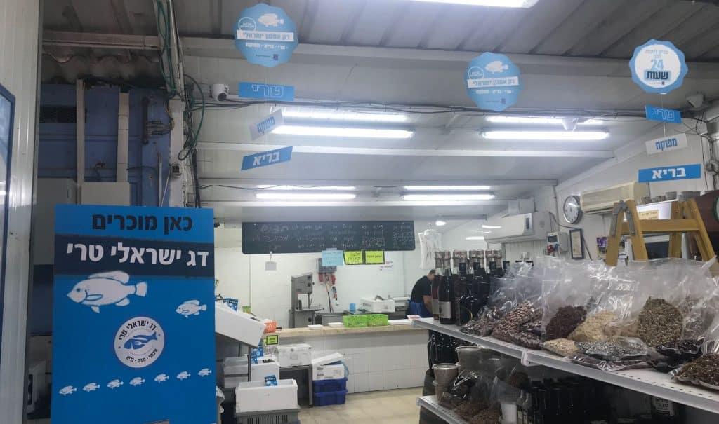 מהלך המיתוג נועד לאפשר לצרכן לזהות ולדעת היכן ניתן למצוא ולרכוש דגי בריכות ישראלים טריים. צילום קקטוס תקשורת בחנות דגים מעין צבי