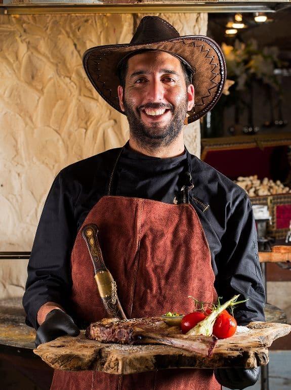 השף באשיר סלימאן. צילום אפיק גבאי