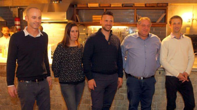 צוות הייננים של ברקן-סגל: משמאל לימין עידו לוינסון, עינת קידר גרשון, ינאי לוינסון, צבי סקייסט, צחי מלצר. צילום דוד סילברמן dpsimages