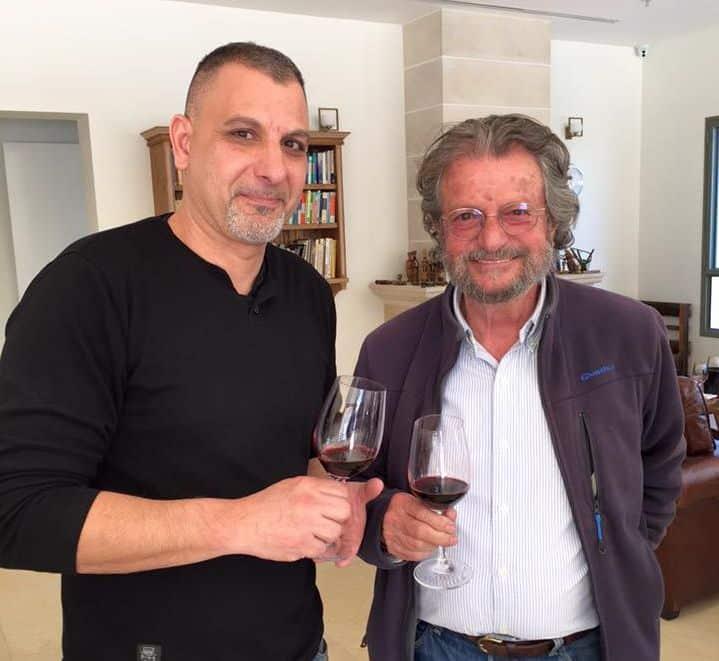 אלי בן זקן – יקב קסטל, עם אלון גונן. צילום רן בירון