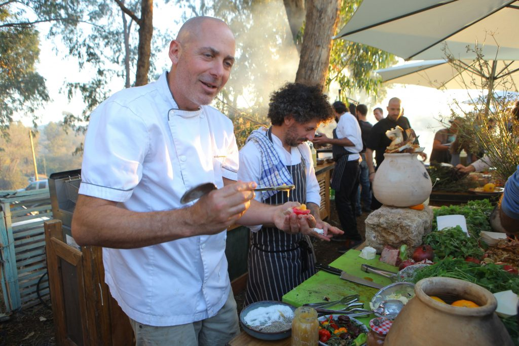 גם שף ניר צוק השתתף בקרקס המשפחתי. צילום דוד סילברמן dpsimages
