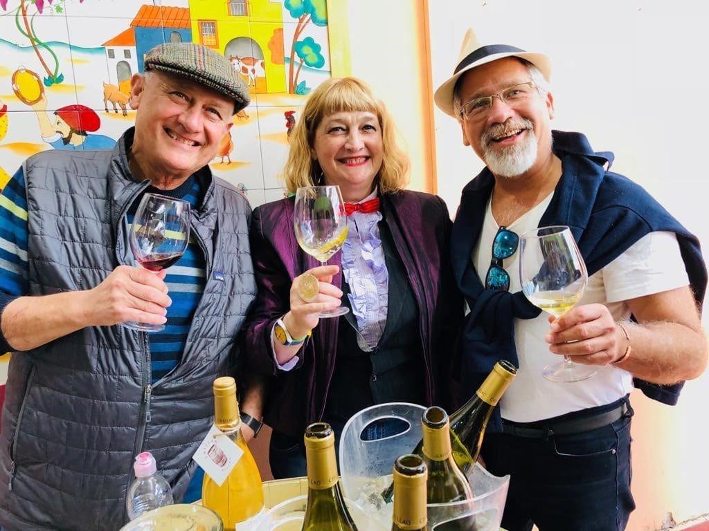 אורנה צ'ילאג עם צביקה אמיתי (משמאל) ועמי ארליך – נחמת שותים