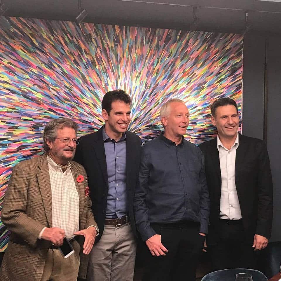 חברי הקוורטט מימין לשמאל: גולן פלם, דורון רב הון, ערן פיק, אלי בן זקן. צילום Alistair Cooper MW מדף הפייסבוק