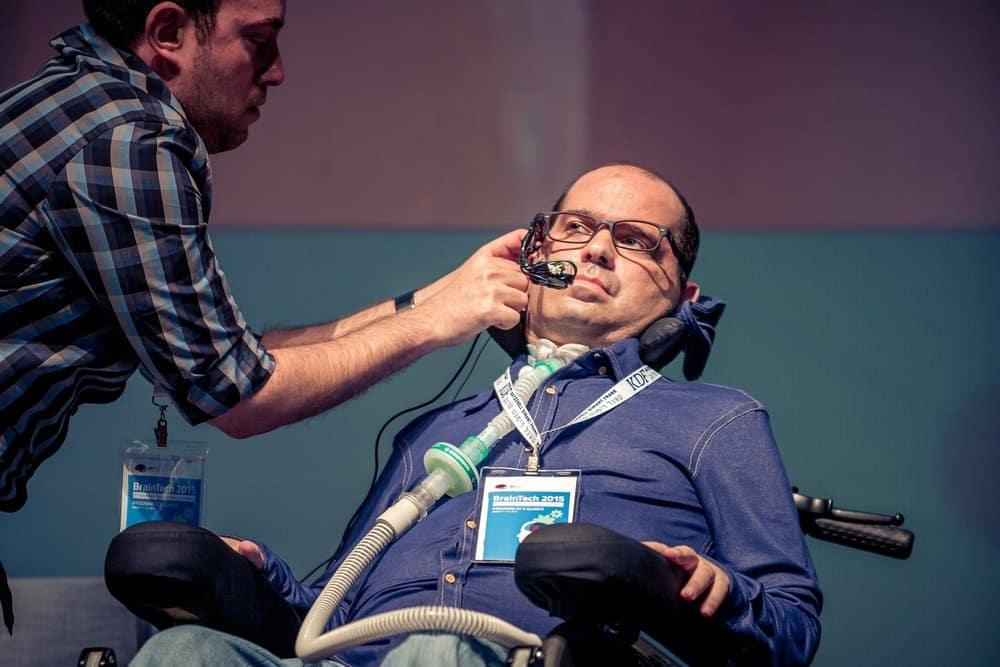 """שי ראשוני ז""""ל, חולה ALS שהיה מייסד משותף של EyeControl ונתן השראה למיזם. צילום מהאתר"""