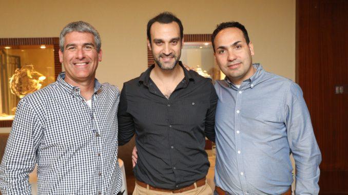 משמאל לימין: נדב ארנס, רן אסא, יוסי אדרי – יקב כרמל. צילום רפי דלויה