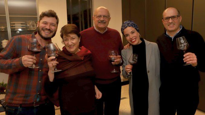 מימין לשמאל: אלכס ובילי הרוני, מתי ואן הרוני, היינן גיא אשל. צילום דוד סילברמן dpsimages