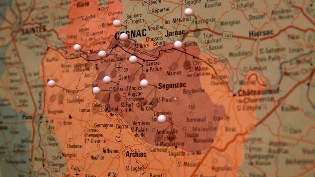 הכרמים של Dupuy ברחבי אזור קוניאק