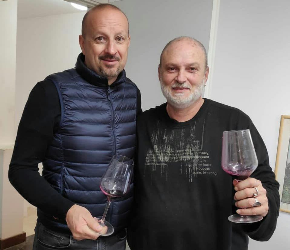 ז'אן מארי פורייה ואבי פלדשטיין. צילום מדף הפייסבוק