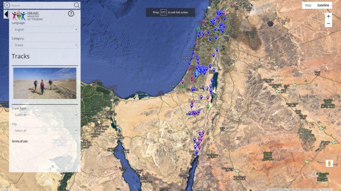 המפה האינטראקטיבית מנגישה מידע לתיירים ולמטיילים הישראלים בצורה ידידותית ונוחה