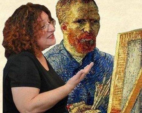 סיגל גליל - חוקרת ומרצה לאמנות ופילוסופיה הנחשבת למומחית מספר 1 בארץ לואן גוך. צילום מדף הפייסבוק