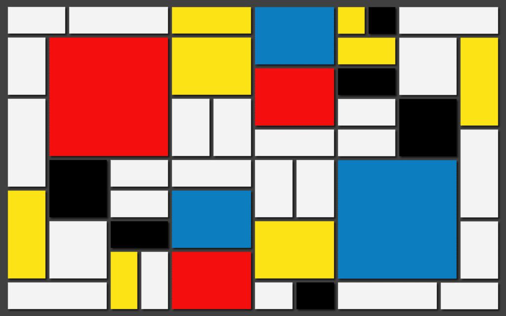 ציור של פיט מונדריאן - אוסף צורות וצבעים?