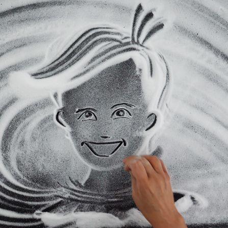 ציור במלח אילנה יהב