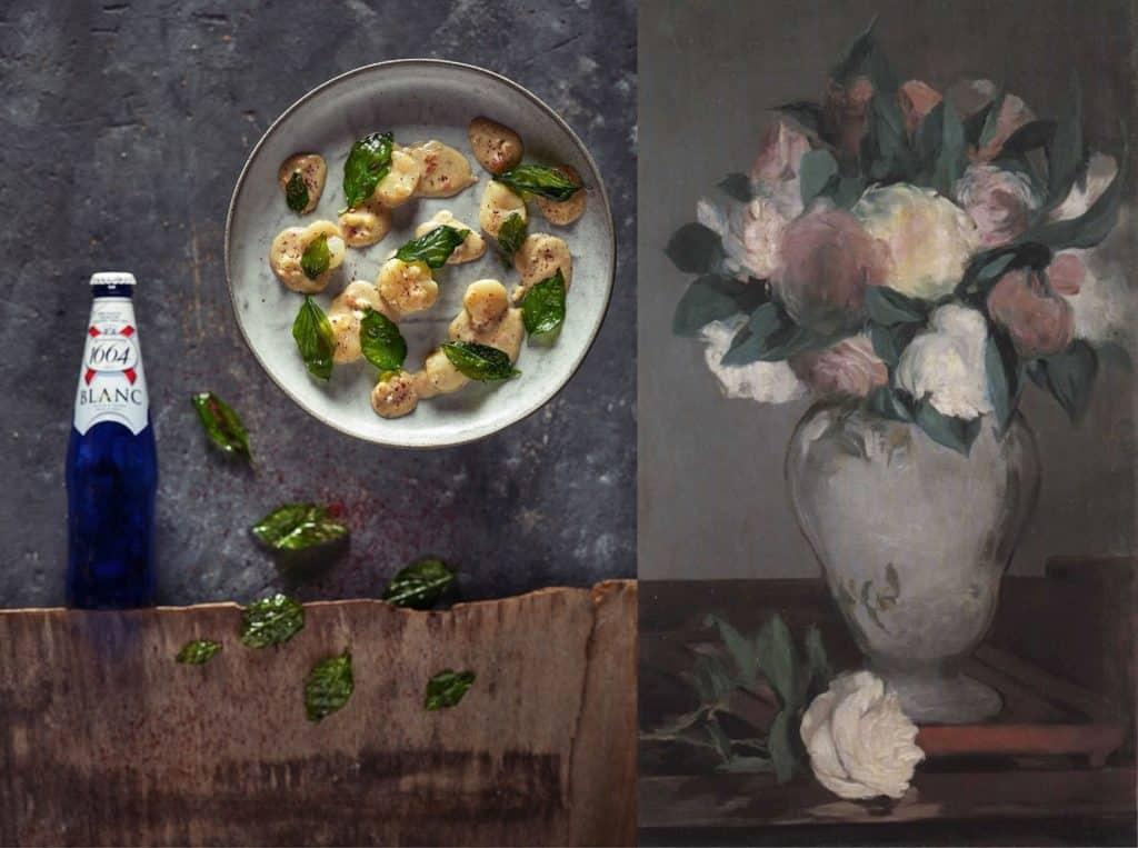משחקי האור והצל של מאנה הזכירו לשפית אביבית פריאל ממסעדת אוזריה את צדפות הקוקי סאן ז'ק שמזוהות עם המטבח הצרפתי. צילום אנטולי מיכאלו