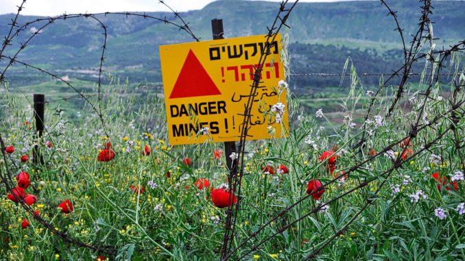 צריך להיזהר - שדה מוקשים ברמת הגולן. צילום pixabay