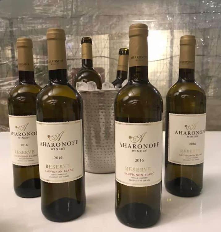 יינות יקב אהרונוף שהוטעמו באירוע. צילום מדף הפייסבוק
