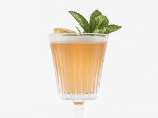 את ה-ASHKELON FIZZ מכינים על בסיס מיץ אשכולית אדומה, מיץ לימון ורוזאטה. צילום ליאור גולסאד